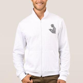American Prayer Track Jacket (white)
