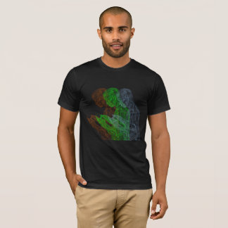 American Prayer Triad (black w/ o, g, b) T-Shirt