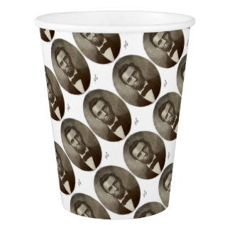 American President Abe Lincoln Vintage Portrait US Paper Cup