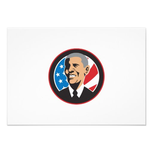 American President Barack Obama 2012 Personalized Invitation