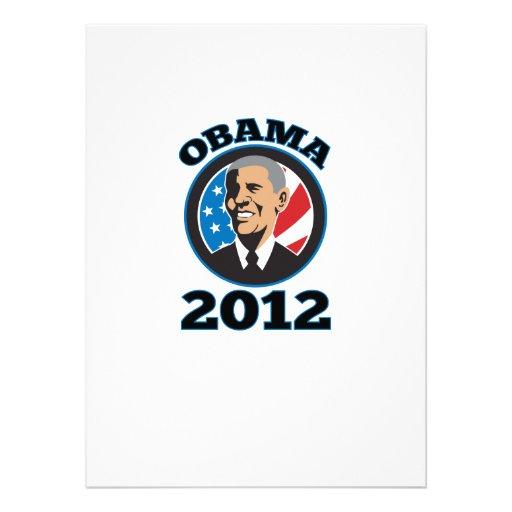 American President Barack Obama 2012 Custom Invites