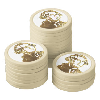 American President George Washington Portrait Gold Poker Chips