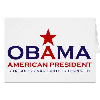 American President Obama Greeting Card