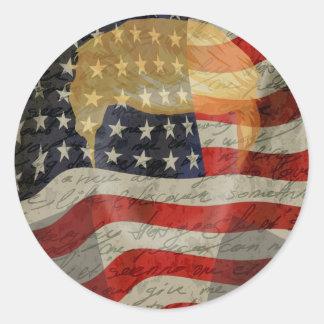 American president round sticker