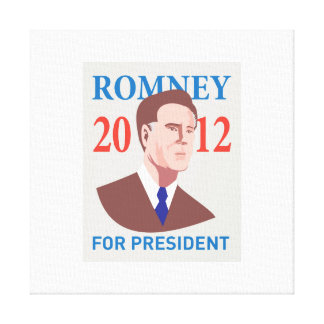 American Presidential Candidate Mitt Romney retro Gallery Wrap Canvas