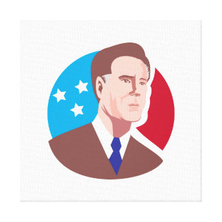 American Presidential Candidate Mitt Romney retro Canvas Prints