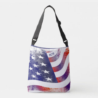 American Pride-Blue Trim Crossbody Bag