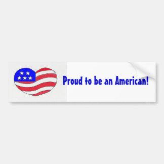 American Pride-Bumper Sticker Bumper Sticker