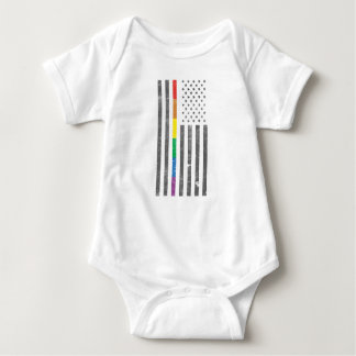 American Pride Flag Baby Bodysuit