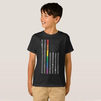American Pride Flag Boy's Dark T-Shirt