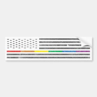 American Pride Flag Bumper Sticker