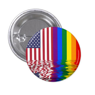 American Pride Flag Button Pin