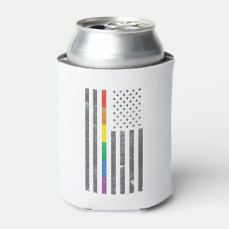 American Pride Flag Can Cooler