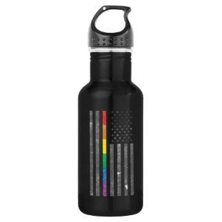 American Pride Flag Dark Water Bottle