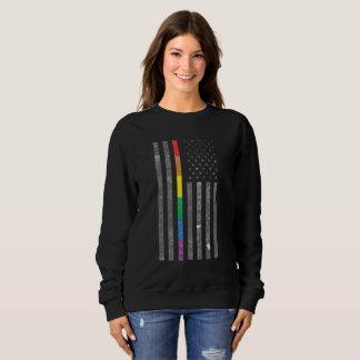 American Pride Flag Dark Women's Basic Sweatshirt