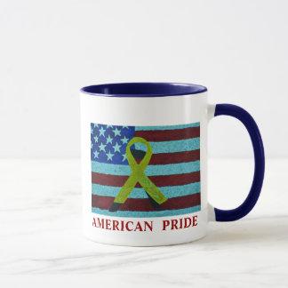 AMERICAN PRIDE FLAG & RIBBON MUG