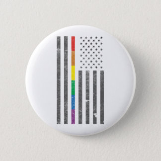 American Pride Flag Round Button