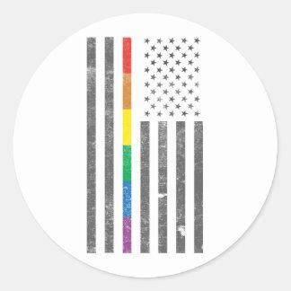 American Pride Flag Sticker