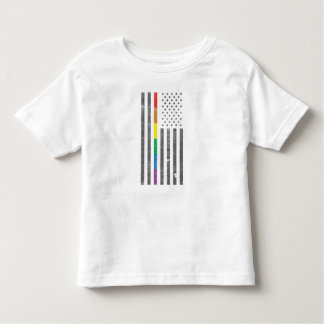 American Pride Flag Toddler Jersey T-Shirt