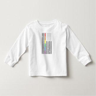 American Pride Flag Toddler Long Sleeve T-Shirt