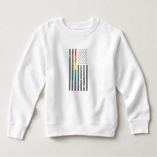 American Pride Flag Toddler Sweatshirt