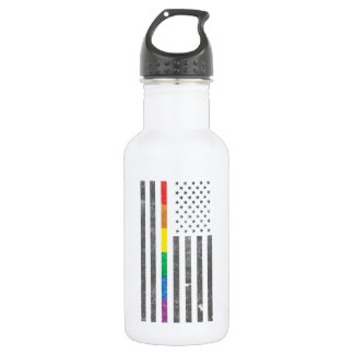 American Pride Flag Water Bottle