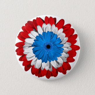 American Pride Flower Power Button