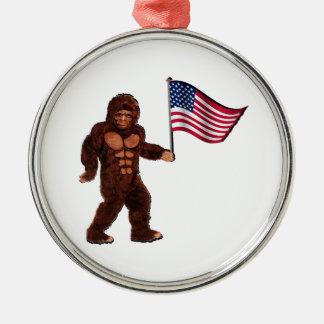 American Pride Metal Ornament