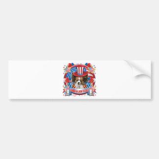 American Pride Papillon Bumper Sticker