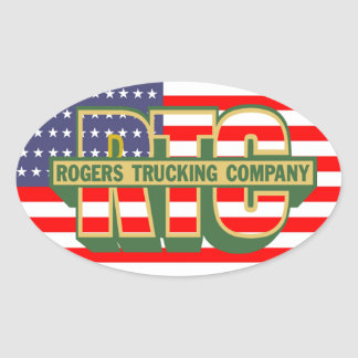 American Pride Rogers Trucking Company Oval Sticker