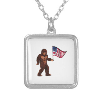 American Pride Silver Plated Necklace