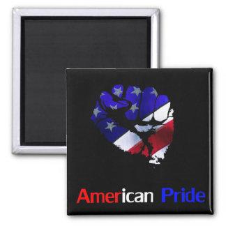 American Pride Square Magnet