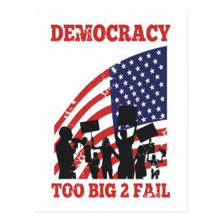 American Protesting Democracy Wall Street Postcard