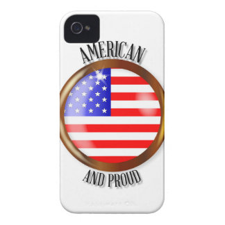 American Proud Flag Button Case-Mate iPhone 4 Case