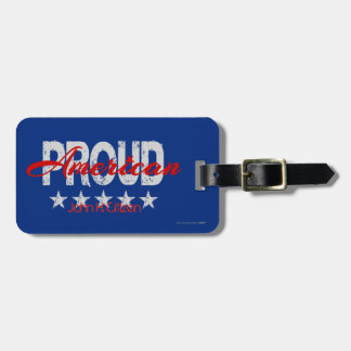 American Proud Patriotic Luggage Tag