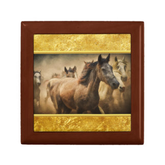 American Quarter Horse with a gold foil design Gift Box