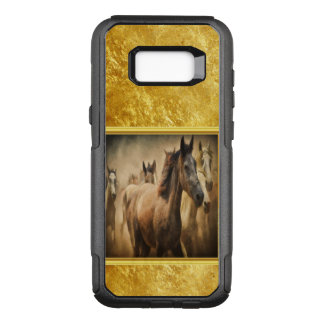 American Quarter Horse with a gold foil design OtterBox Commuter Samsung Galaxy S8+ Case