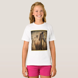 American Quarter Horse with a gold foil design T-Shirt