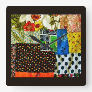 American Quilt  Design Square Wall Clock