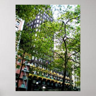 American Radiator Building Trees Poster