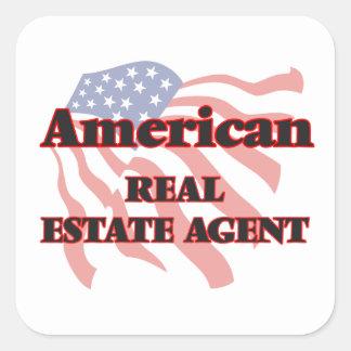 American Real Estate Agent Square Sticker
