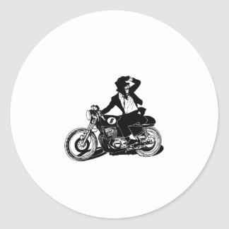 American Recluse Monkey Rider Round Stickers
