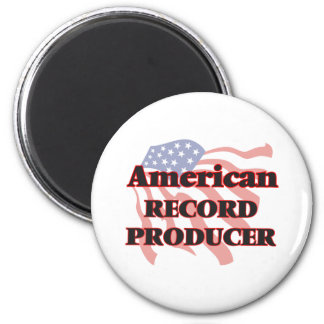 American Record Producer 6 Cm Round Magnet