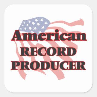 American Record Producer Square Sticker