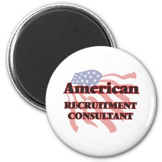 American Recruitment Consultant 6 Cm Round Magnet