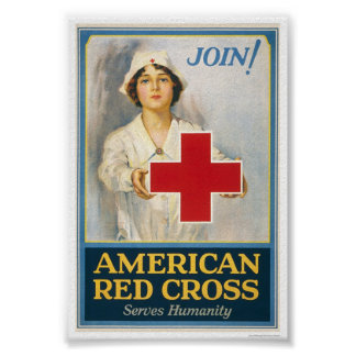 American Red Cross Serves Humanity Poster