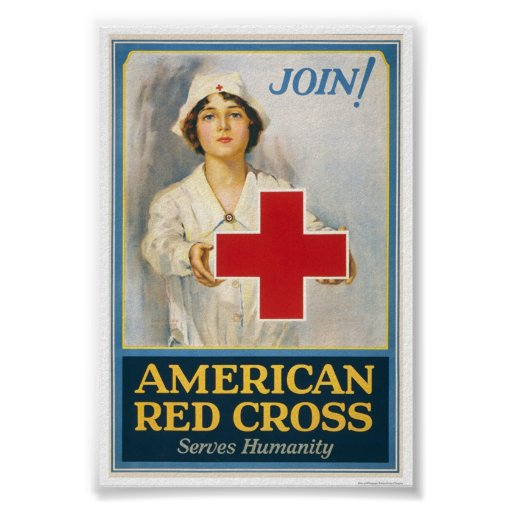American Red Cross Serves Humanity Posters