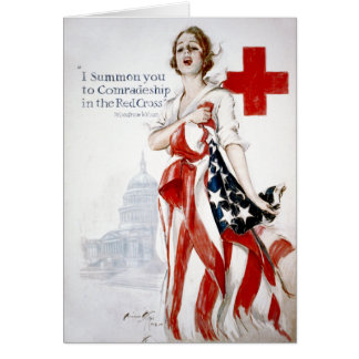 American Red Cross Vintage World War I Poster Greeting Card