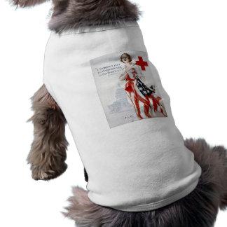 American Red Cross Vintage World War I Poster Dog T-shirt