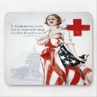 American Red Cross Vintage World War I Poster Mouse Pads